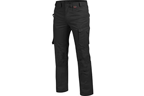 WÜRTH MODYF Bundhose Cetus schwarz: Die widerstandsfähige Hose ist in der Größe 48 erhältlich. Die metallfreie und Bequeme Arbeitshose ist Industriewäsche geeignet.