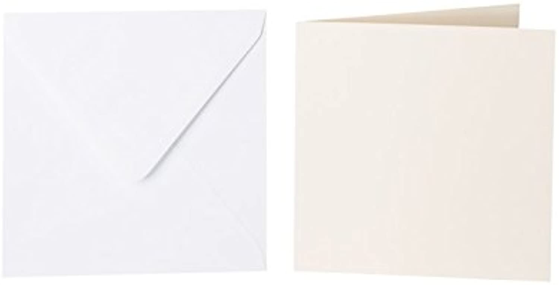 100 quadratische Briefumschläge 100 x x x 100 mm Weiß mit Dreieckslasche, 100g  100 Faltkarten 95x95 mm, 240g, Farbe  01 Zartcreme B015POJ1J6 | Spielen Sie auf der ganzen Welt und verhindern Sie, dass Ihre Kinder einsam sind  | Neuankömmling  | V 274dbe