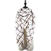 Lala haak Plaid Deken Winter Sjaal voor vrouwen Warm Gezellige Tartan Wrap Oversized Sjaal Cape Fashion Europese straten stijl