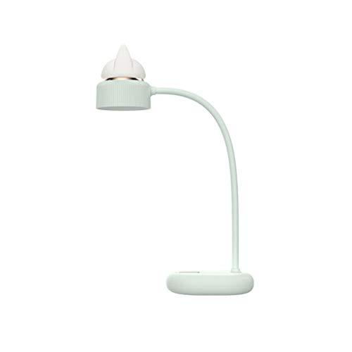 JJZXD Lindo USB lámpara de Mesa Carga del silicón Mesa LED luz de la Noche de la lámpara Regulable for el Dormitorio Bed Head Menta (Color : B)