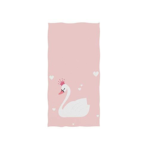 N/A Toalla de mano ultrasuave con patrón de cisne, toalla de secado rápido, muy absorbente, 30 x 15 pulgadas, toalla de lavado de cara para baño, gimnasio, yoga