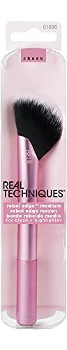 Real Techniques Rebel Edge Mittelgroßer, abgewinkelter, multifunktionaler Make-up-Pinsel für das Gesicht