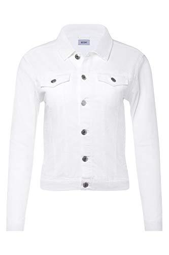 Womens Classic Button Closure White Denim Jean Jacket