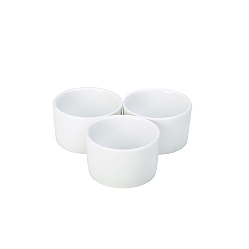 Nextday Catering Equipment Supplies nev-ramcon8-w Royal contemporáneo suave Ramekin, 8 cm (Pack de 6)
