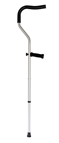 The Life Crutch - 1 Pair of Universal Size Crutches 4'6 - 6'7 with Adjustable Ergonomic Handles for Adults and Children
