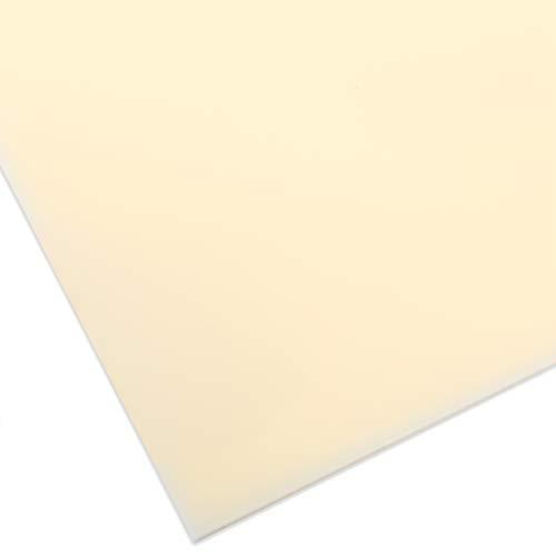 PLEXIGLAS® GS de color, vidrio acrílico de marca versátil y resistente a la rotura para objetos ligeros, etc, plancha de PLEXIGLAS® GS de 3 mm de grosor en 12 x 25 cm, crema translúcido (1H02)