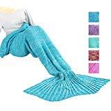 Maxchange Mermaid Blanket, Handmade High Density Crochet Mermaid Tail Blanket,Recommend Adult Size...