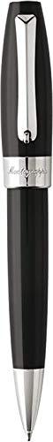 MONTEGRAPPA Collezione FORTUNA Penna Sfera a Rotazione, placcata Palladio & Nero Design Classico Raffinato Linea Elegante Comoda all'uso