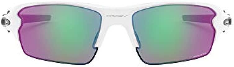 Oakley Men's OO9295 Flak 2.0 Rectangular Sunglasses, Polished White/Prizm Golf, 59 mm