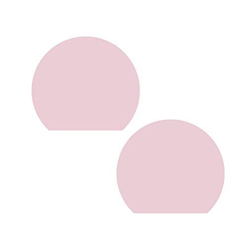 Kelong Silikon-Platzsets, Silikon-Platzsets für Kinder, halbrunde Tischsets, Arbeitsflächenschutz, 2 Stück, wasserdicht, hitzebeständig, rutschfest, für den Esstisch (Pink)
