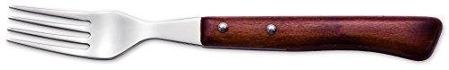 Arcos Serie Cuchillos de Mesa, Tenedor, Tenedor de Acero Inoxidable 18y10 de 200 mm, Mango Madera Comprimida Color Marrón