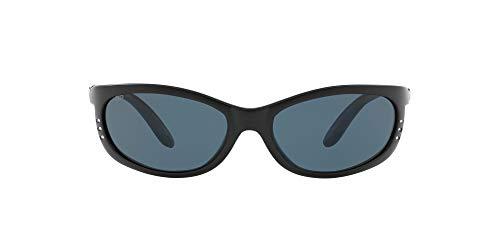Costa Del Mar Men s Fathom Polarized Oval Sunglasses, Matte Black Grey Polarized-580P, 61 mm