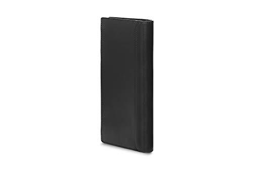 Moleskine (Classic Slimfold Wallet, 100% Leder - Karten- und Tickethalter, Slimfold Geldbörse mit 15 Fächern für Kreditkarten und Münzfach, Größe 9 x 19 x 1,5 cm) Schwarz