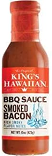 Kings Hawaiian Smoked Bacon Barbecue Sauce, 15 Ounce -- 6 per case.