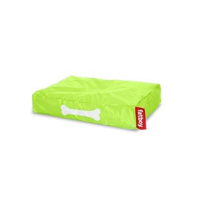 Fatboy® Doggielounge Small limegrün | Kleines Nylon-Hundekissen | Abwaschbares Hundebett für kleine Hunde | 60 x 80 x 15 cm