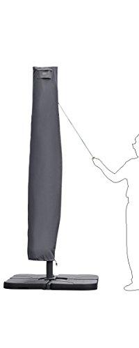 Sekey® Schutzhülle für Ampelschirm,Abdeckhauben für Sonnenschirm,grau - 2