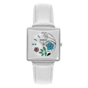 Kookaï KO 015/BB - Reloj, Correa de Cuero Color Blanco