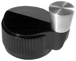 EHC (ELECTRONIC HARDWARE) DS125-6-2G CRANK HANDLE ROUND KNOB, 6.35MM