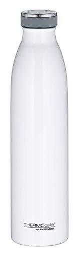 ThermoCafé by THERMOS 4067.211.075 Thermosflasche TC Bottle, Edelstahl Weiß glänzend 0,75 Liter, 12 Stunden heiß, 24 Stunden kalt, BPA-Free