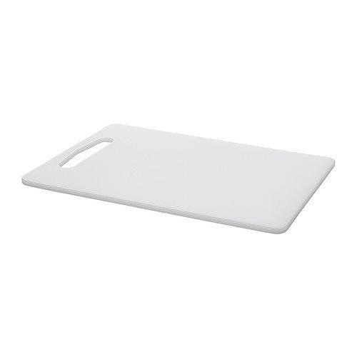 IKEA LEGITIM Schneidebrett in weiß; (34cm x 24cm)