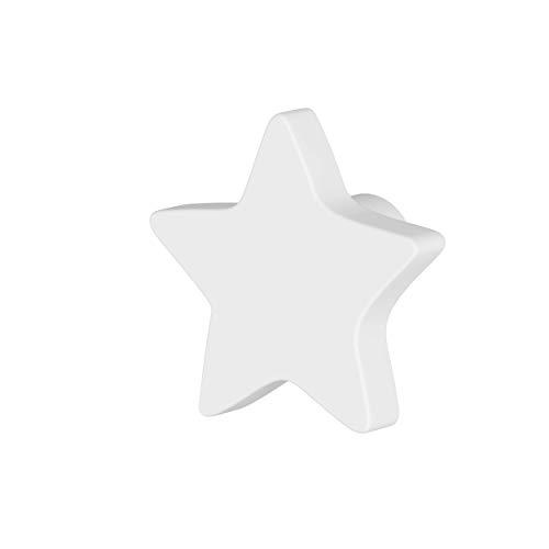 Greca Pomos Infantiles Estrella. 6 Unidades. Acabado Lacado Mate de la máxima Calidad. (Blanco)