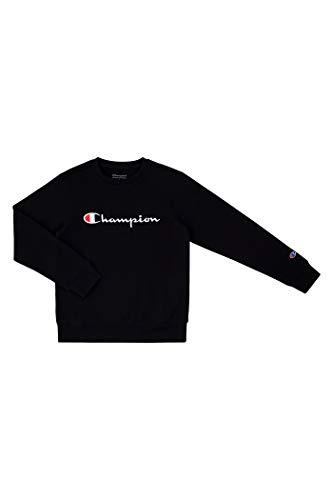 Champion Unisex Heritage Boy and Girls Fleece Pullover Champion Scipt Sweatshirt (X-Large, Black Script)