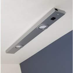 Réglette pour Cuisine ROMEO LED avec Interrupteur - Aluminium Silver - Led intégrée 2x3W 580Lm 4000K - IP20 CLII