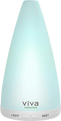 Oil Diffuser Essential Oils - Easy-to-Use Air Diffuser with Auto Shut-Off, Quiet Ultrasonic Diffuser with Cooling Mist Humidifier, Includes Night Light Feature