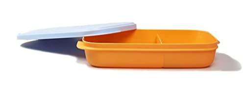 TUPPERWARE Snack Box Sandwich 590ml naranja azul claro 38593