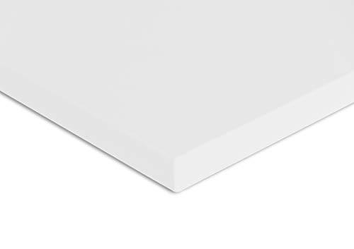 vabo Schreibtisch-Platte mit hoher Kratzfestigkeit in weiß, Tischplatte bis zu 120kg belastbar, moderner Büro-Tisch mit Laserkante, 120x80x2,5cm