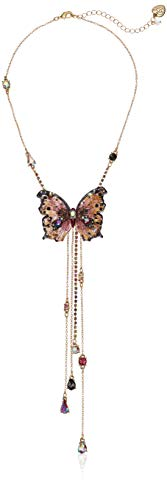Betsey Johnson Gold Butterfly Y-Shaped Necklace