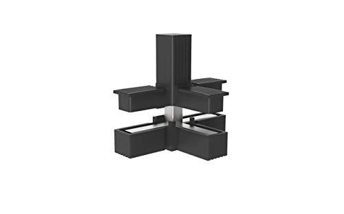 Conectores para tubos cuadrados (en C) - 2 unidades / 30,00 x 30,00 (mm) (Con ALMA de Acero)