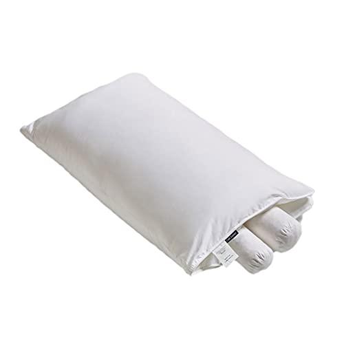 Piel Cervical y Almohada de sueño Tipo cilíndrico Tipo Conveniente Llenado de látex y Desmontable (Color : White)