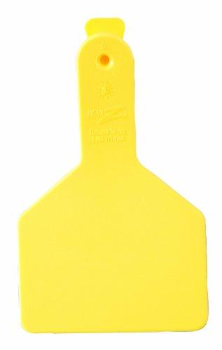 ZTags Lot de 25 étiquettes Vierges pour Mollets à col Long Jaune