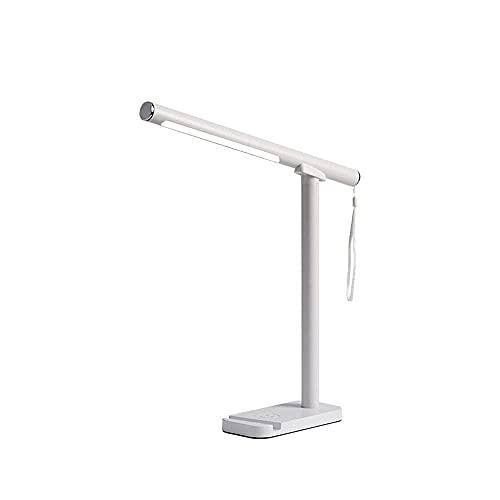 qwertyuiop Lámpara de Escritorio LED Multifuncional con Cargador inalámbrico, 3 Modos de iluminación, Protection Des Yeux, Lámpara de Escritorio Adecuada para Dormitorio, Estudio, Oficina, Dormitorio