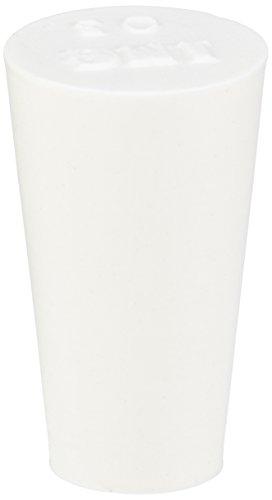 neoLab 2-4250 Silikon-Schwammstopfen, 12 x 8 x 20 mm, Weiß (10-er Pack)