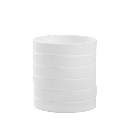 BRANDWINLITE Pulseras de Silicona en Blanco,6 Unidades