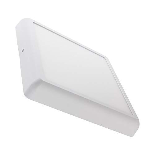 LEDKIA LIGHTING LED Deckenleuchte Eckiges Design 24W Weiß Warmes Weiß 2800K - 3200K