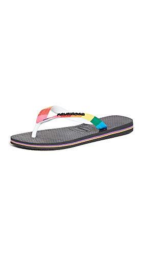Havaianas Women's Top Pride Strap Sandal Flip-Flop, Black, 7-8