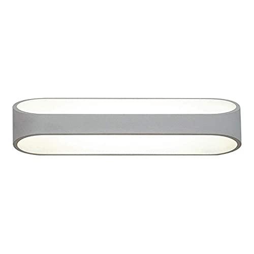 WEM Lámparas de pared, aplique de pared LED, lámpara de pared moderna, accesorios de iluminación hacia arriba y hacia abajo, focos de aluminio, apliques de interior para sala de estar, dormitorio, pa