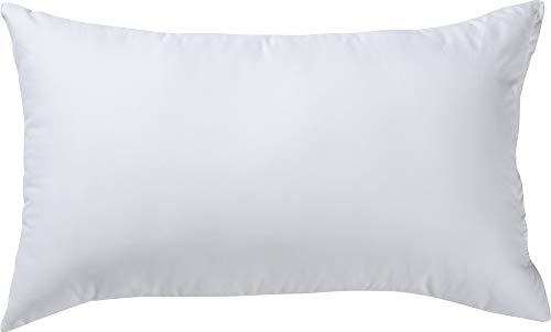REDBEST Kuschel-Kissen, Kissenfüllung Atlanta - Textilfaser weiß Größe 30x50 cm - optimaler Feuchtigkeitsabtransport, Liegekomfort, hygienisch waschbar - Mikrofaser-Bezug