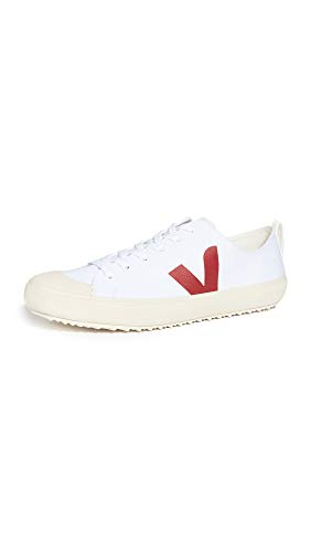 Veja Nova Herren-Sneaker, Weiß (Weiß/Marsala), 42 EU