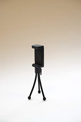 Mini Tripod Handy Stativ mit Fernauslöser und Handyhalterung • Stativ für Smartphone,ipad,kleine Kamera,Gopro Hero 8. Flexible Arm Selfie Stick Sstativ zum filmen,unterwegs auf Reise,tik tok etc.