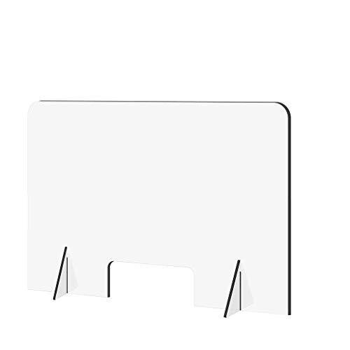 Clear Perfection Recepción Lateral Venta Mostrador Rociado Corte UV Transparente 24'X16 Hogar y jardín Oficina y papelería
