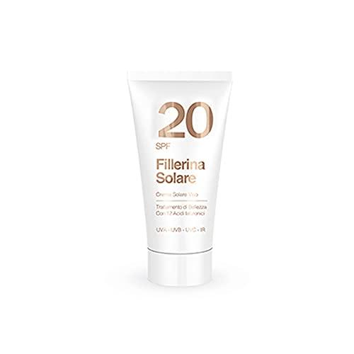 Labo Fillerina - Crema solar antiedad para el rostro, protección media, antiedad, para rostro, Sunscreen SFP 20, 50 ml