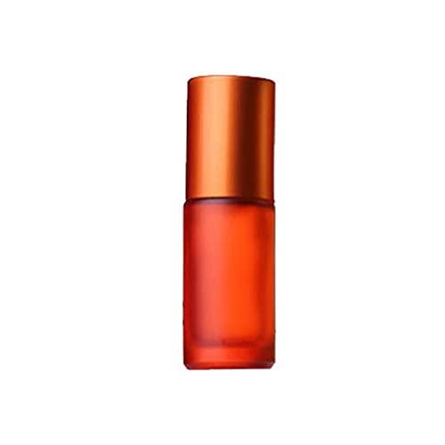 Vaporisateur 1/5/10 PCS 5ML Portable Coloré Coloré Essential Huile Essentielle Parfum d'épaisseur Verre Voie Rouleau Rouleau rechargeable Outil séparé (Color : 5ml Orange, Specifications : 10pcs)