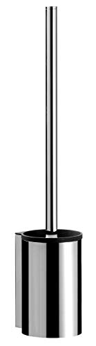 Emco System 2 Toilettenbürsten-Garnitur, chrom, Toilettenbürste mit Halterung, WC-Garnitur, Wandmontage – 351500100