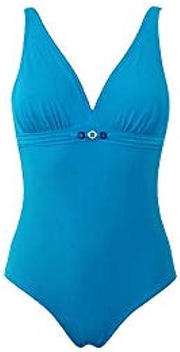 Laura by Janine Robin boisstock Maillot de bain Femme 1 pièce sur coques Bleu Mode Taille 38EF Femme