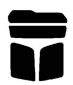 株式会社セブン ハードコートフィルム ミツビシ パジェロミニ H53A・H58A 後期 リヤーセット カット済みカーフィルム ダークスモーク