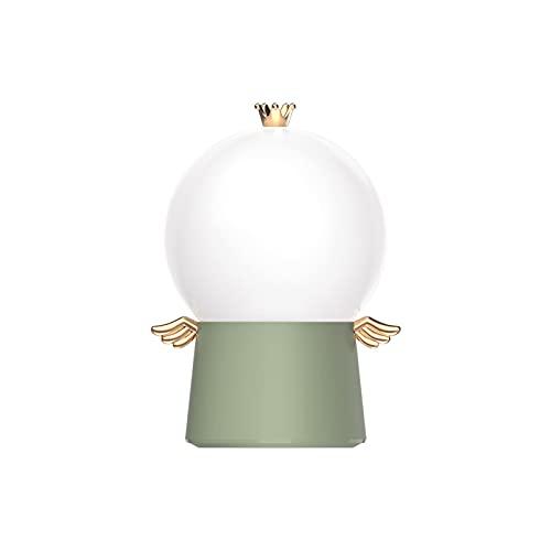 Luz Nocturna Infantil Lámpara de proyección Creativa del ángel de la Guarda LED música giratoria luz Nocturna Multifuncional cumpleaños,Green